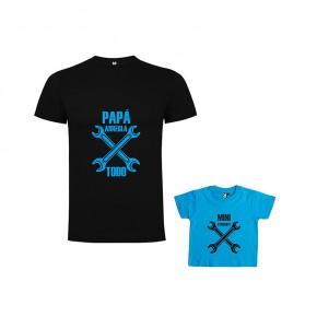 Pack Camiseta Papa Arregla & Mini Ayudante