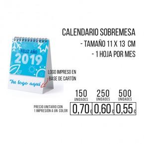 Calendario sobremesa 11x13