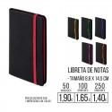 Libreta de notas con banda elastica colores