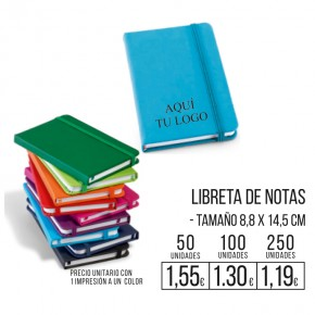 Libreta de notas colores