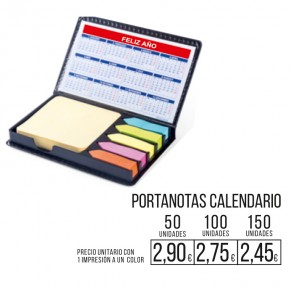 Portanotas grande con calendario