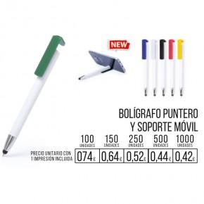 Boligrafo Puntero y soporte Móvil