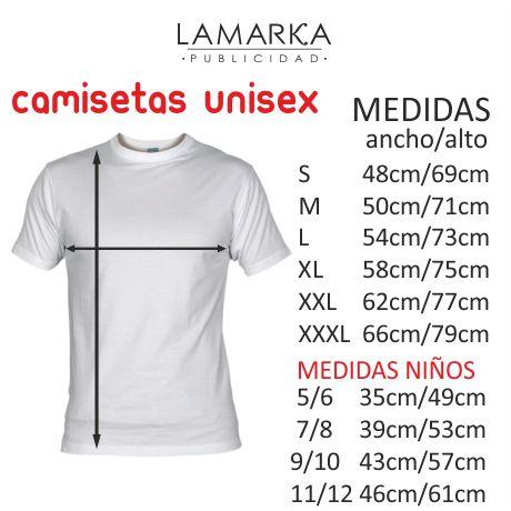 camisetas unisex manga corta