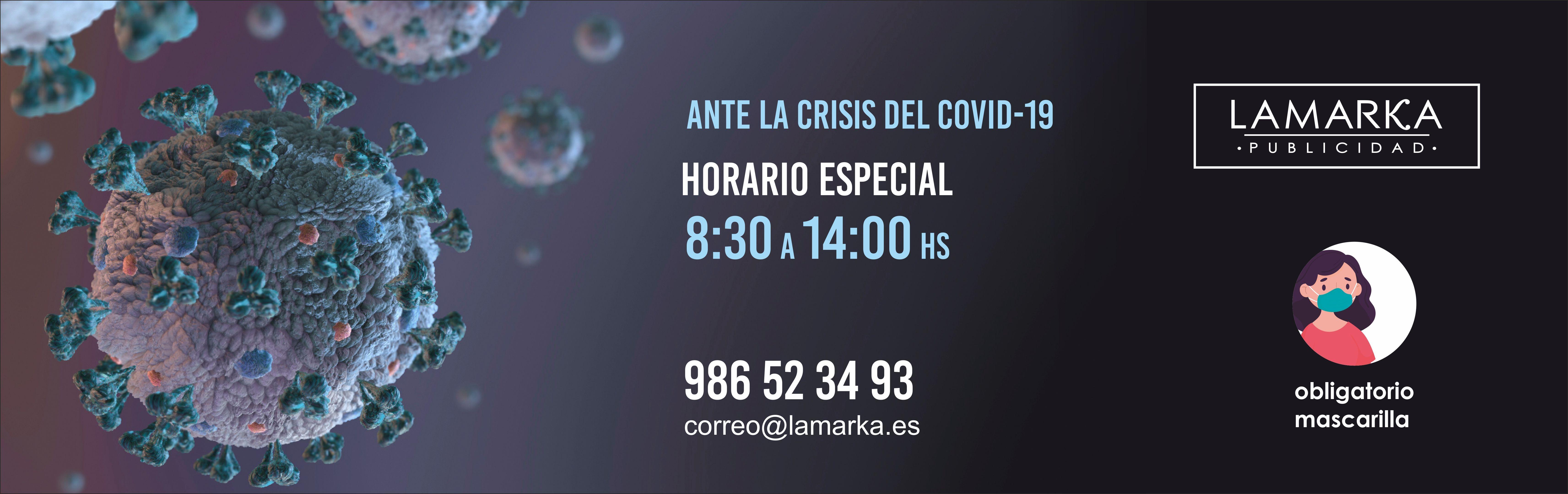 Horario Especial devido al Covid-19